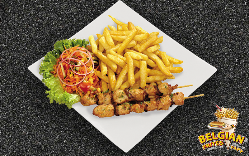 Belgian Frites - Chicken skewer